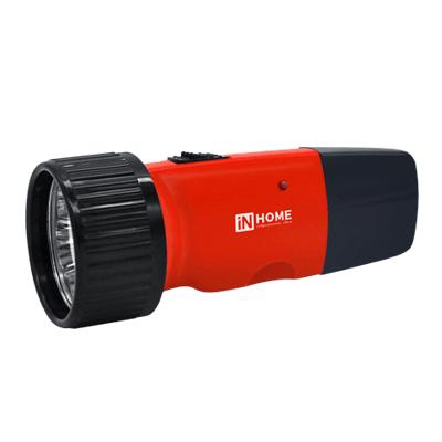 Фонарь ручной аккумуляторный MLA 01-R 5LED 120Lm 6ч 2 режима, з/у 230В КРАСНЫЙ IN HOME, Фонари светодиодные