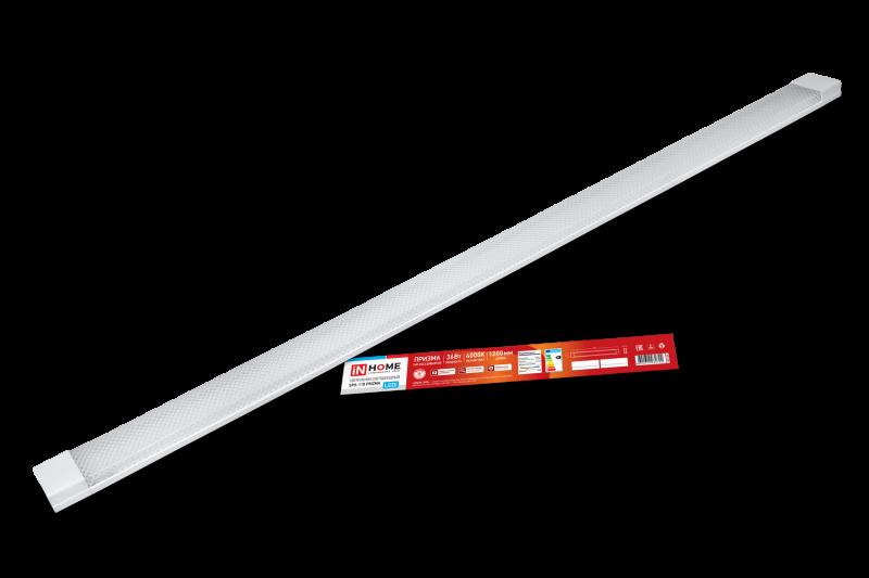 Светильник светодиодный SPO-110 PRIZMA 36Вт 230В 4000К 3000Лм 1200мм IP40 IN HOME, Линейные светильники
