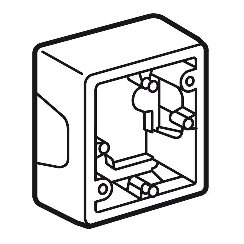 Коробка накладная одинарная VALENA Legrand крем, Рамки и аксессуары