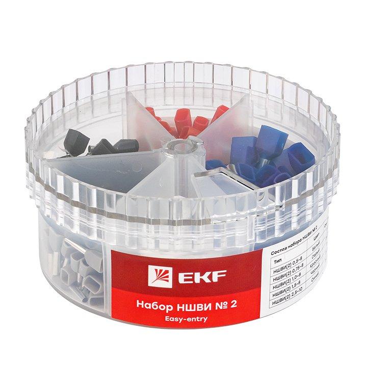 Набор НШВИ(2) №2 (2x0,5-2x2,5мм2) EKF PROxima, Изолированные наконечники и разъемы