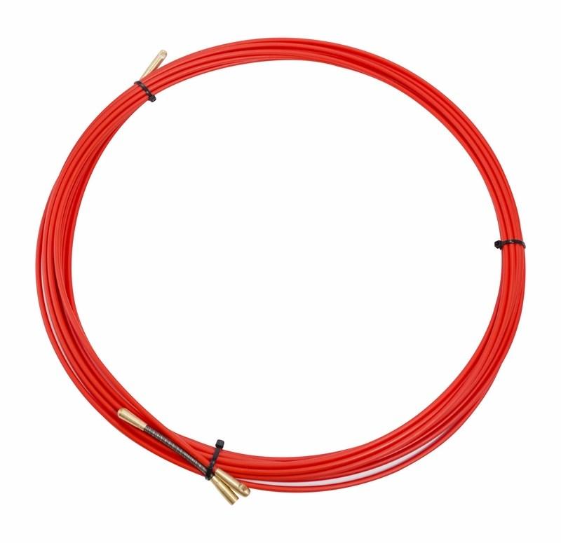 Протяжка кабельная REXANT (мини УЗК в бухте) стеклопруток, d=3,5 мм 10 м красная, Арматура к проводу СИП