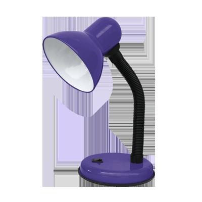 Светильник настольный под лампу СНО-02Ф на основании 60Вт E27 ФИОЛЕТОВЫЙ (мягкая упаковка) IN HOME, Светильники настольные