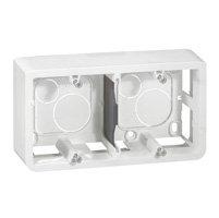 Коробка Legrand MOSAIC для накладного монтажа на 4 модуля глубина 40 белая