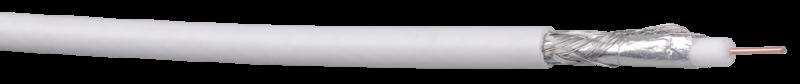 Кабель коаксиальный RG6, 75 Ом, FPE, ПВХ, белый ITK, Телевизионный кабель