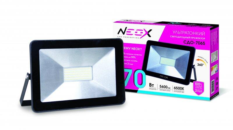 Прожектор светодиодный СДО-7065 70Вт 230В 6500К 5600Лм IP65 NEOX, прожекторы