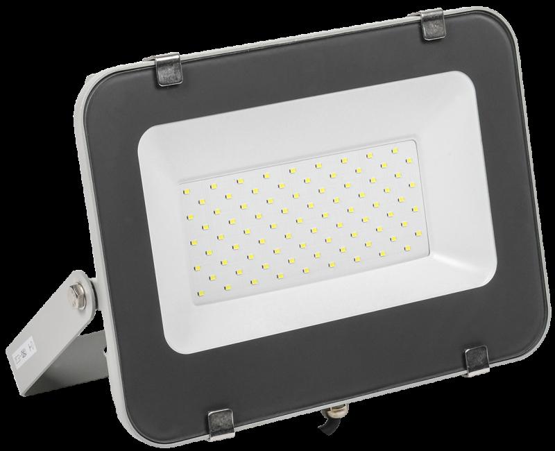 Прожектор светодиодный серый СДО IEK 70 Вт, прожекторы