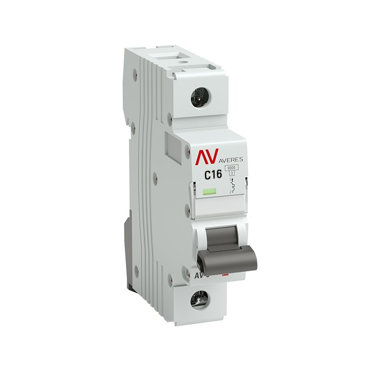 Выключатель автоматический AV-6 1P 16A (C) 6kA EKF AVERES, Автоматические выключатели