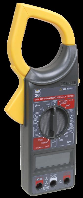 Клещи токоизмерительные 266 IEK Expert