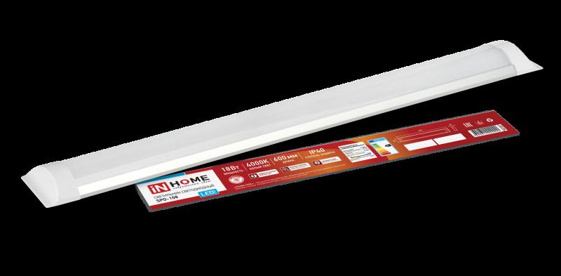 Светильник светодиодный SPO-108 18Вт 230В 4000К 1300Лм 600мм IP40 IN HOME, Линейные светильники