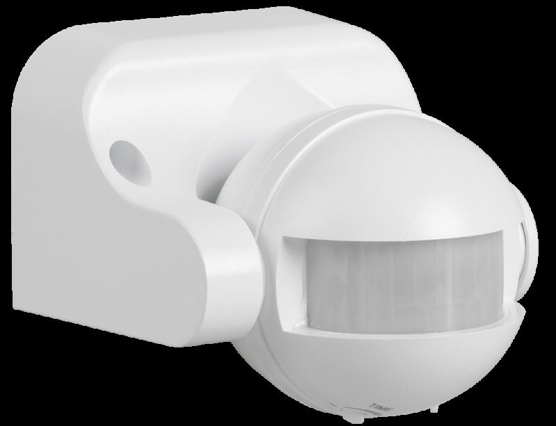 Датчик движения IEK ДД 009 1100Вт 180 гр. 12м IP44 белый, Датчики