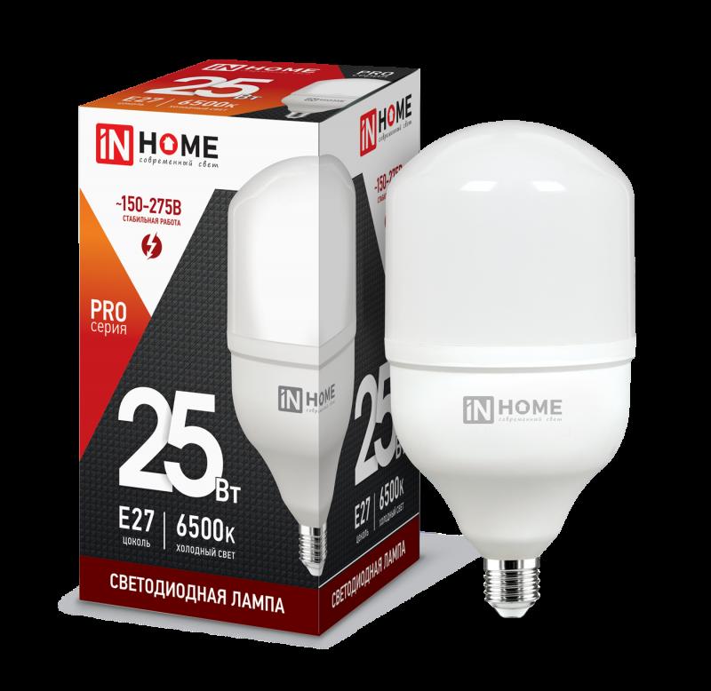 Лампа светодиодная LED-HP-PRO 25Вт 230В E27 6500К 2250Лм IN HOME, Лампы LED-HP