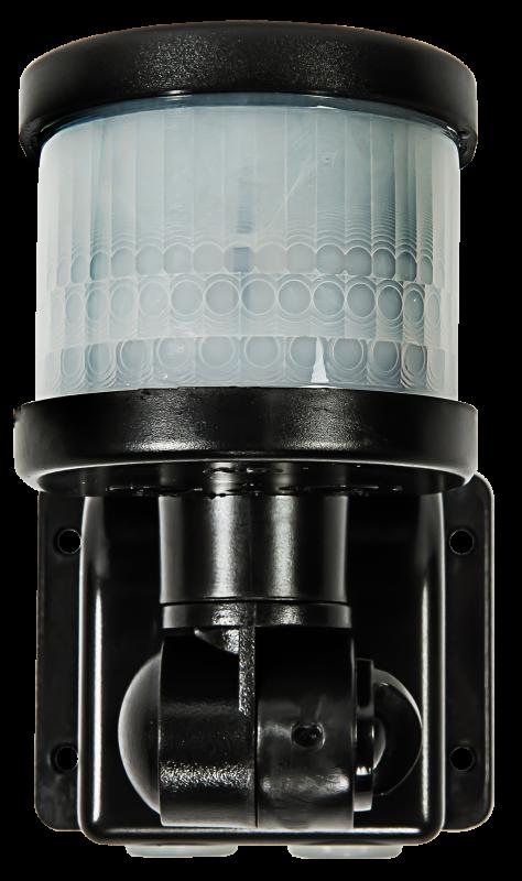 Датчик движения инфракрасный ДД-018-B 1200Вт 220 градусов 12м, IP44 черный LLT, Датчики