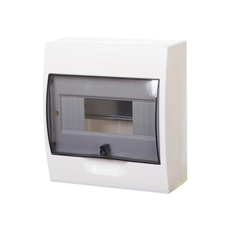 Щит распред. навесной пластиковый с прозрачной дв. Easy9 8 мод. 200х184х94 IP40 SE, Щиты накладные пластиковые