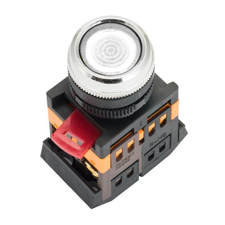 Кнопка ABLFS-22 с подсветкой прозрачный NO+NC 230В EKF PROxima, Светосигнальная арматура