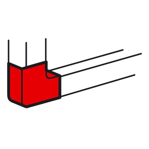 Плоский угол Legrand 85х50 для кабель-канала METRA белый