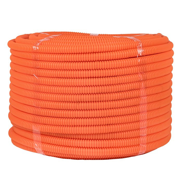 Труба гофр. ПНД Plast с зондом d20мм (100м.) оранжевая EKF PROxima