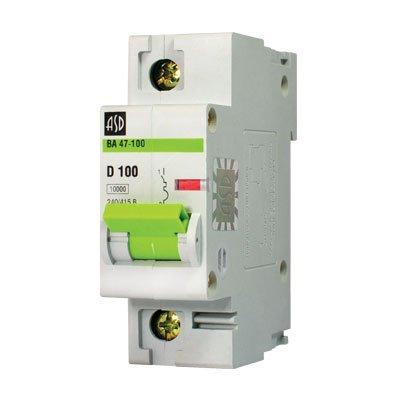 Автоматический выключатель ВА 47-100 1п 80А 10кА х-ка D ASD
