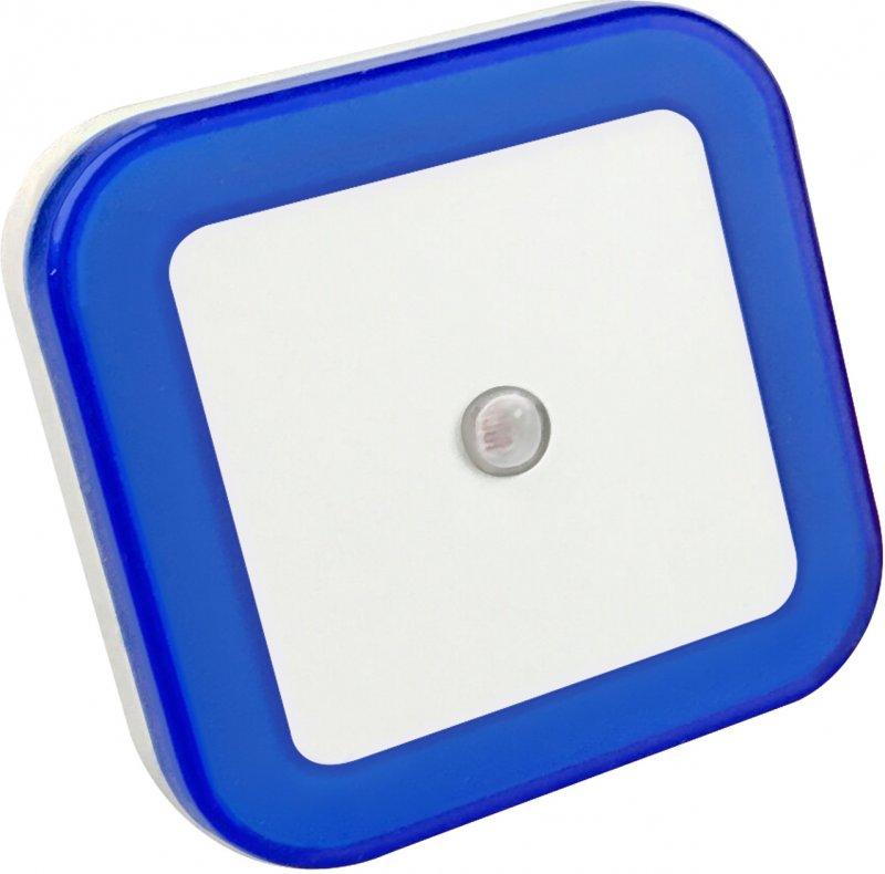 Ночник светодиодный NLE 03-SB-DS КВАДРАТ синий с датчиком освещения  230В IN HOME, Ночники светодиодные