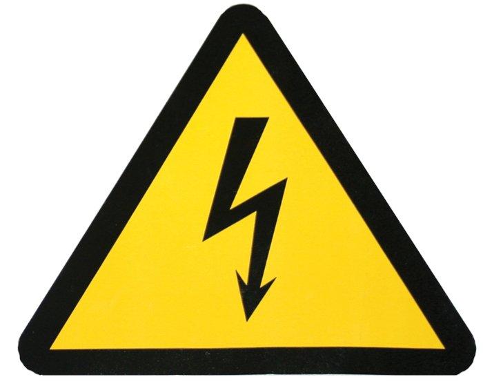 "Наклейка ""Молния"" (130х130х130мм.) EKF PROxima, Знаки электробезопасности"