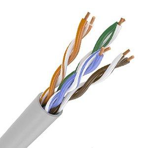 Кабель связи витая пара ШПД F/UTP LDPE кат.5E 4х2х24AWG solid PVC черный GENERICA, кабель витая пара