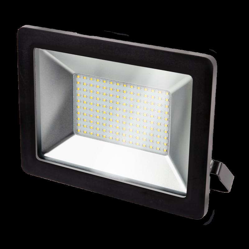 Прожектор светодиодный черный GAUSS 100 Вт, прожекторы