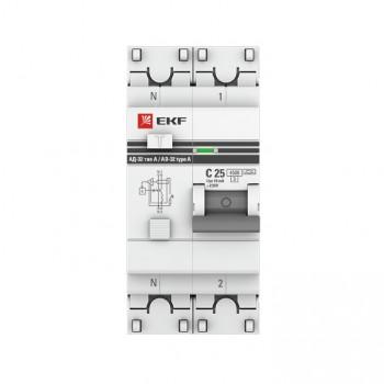 Дифференциальный автомат EKF PROxima АД-32 2Р 2Р 63А/300А 4,5кА характеристика С, Дифавтоматы АВДТ