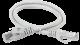ITK Коммутационный шнур (патч-корд), кат.6 UTP, LSZH, 1м, серый, кабель витая пара