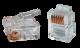 ITK Разъём RJ12 UTP для кабеля кат.3 6P4C, Штекеры телефонные и телевизионные