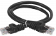 ITK Коммутационный шнур (патч-корд), кат. 6 UTP PVC 3м черный, кабель витая пара