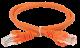 ITK Коммутационный шнур (патч-корд), кат. 6 UTP PVC 5м оранжевый, кабель витая пара