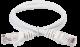ITK Коммутационный шнур (патч-корд), кат. 6 UTP PVC 1м белый, кабель витая пара