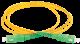 ITK Оптический шнур (патч-корд), SM, 9/125 (OS2), SC/APC-SC/APC,(simplex),1м, кабель витая пара