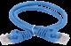 ITK Коммутационный шнур (патч-корд), кат. 6 UTP PVC 3м синий, кабель витая пара