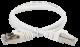 ITK Коммутационный шнур (патч-корд), кат.5Е FTP, 2м, белый, кабель витая пара