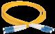 ITK Оптический шнур (патч-корд), SM, 9/125 (OS2), LC/UPC-LC/UPC,(Duplex),2м, кабель витая пара