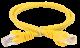 ITK Коммутационный шнур (патч-корд), кат.5Е UTP, 5м, желтый, коммутационный шнур