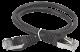 ITK Коммутационный шнур (патч-корд), кат.5Е FTP, 0,5м, черный, кабель витая пара