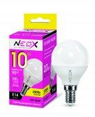 Лампа светодиодная LED-ШАР 10Вт 230В Е14 3000К 800Лм NEOX, Лампы LED-ШАР