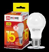 Лампа светодиодная LED-A60-VC 15Вт 230В Е27 3000К 1350Лм IN HOME, Лампы LED-A