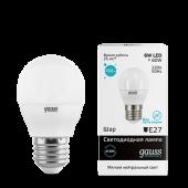 Лампа светодиодная LED-ШАР 6Вт E27 4100K 450Лм Elementary GAUSS, Лампы LED-ШАР