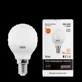 Лампа светодиодная LED-ШАР 6Вт E14 3000K 420Лм Elementary GAUSS, Лампы LED-ШАР