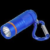 Фонарь-брелок KL 61B LED батарейки в комплекте алюминиевый СИНИЙ IN HOME, Фонари светодиодные