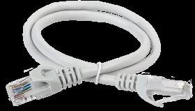 ITK Коммутационный шнур (патч-корд) кат.5Е UTP 1м серый, кабель витая пара