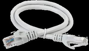ITK Коммутационный шнур (патч-корд), кат.6 UTP, 1м, серый, кабель витая пара