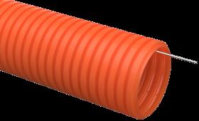 Труба IEK гофрированная ПНД 40 с зондом оранжевая тяжелая, Труба гофрированная ПНД