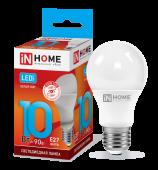 Лампа светодиодная LED-A60-VC 10Вт 230В Е27 4000К 900Лм IN HOME, Лампы LED-A