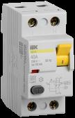 Устройство защитного отключения ВД1-63 2Р 40А 30мА IEK, Устройства защитного отключения