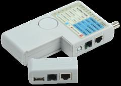ITK Тестер для витой пары 4в1 RJ45/RJ11/BNC/USB с элементом питания, Ручной инструмент