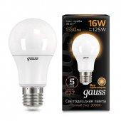 Лампа светодиодная LED-A60 16Вт E27 3000K 1380Лм Black GAUSS, Лампы LED-A