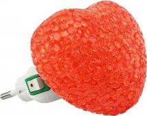 Ночник светодиодный NLA 10-HR СЕРДЦЕ красное с выключателем 230В IN HOME, Ночники светодиодные